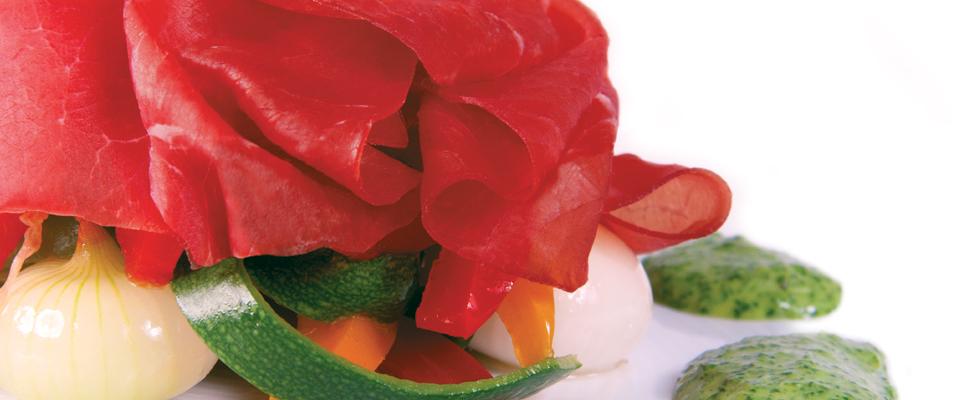 Bresaola con verdure marinate